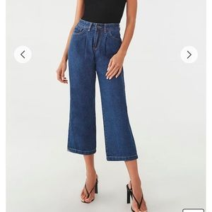 High Rise Flare Ankle Jeans